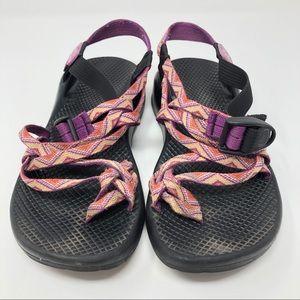 Chaco Yampa Purple & Orange Chevron Pattern Sandal